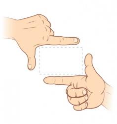 Finger frame vector