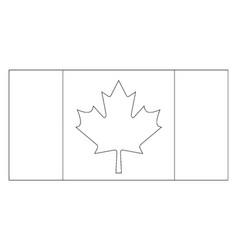 Flag of canada 2009 vintage vector
