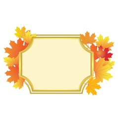 frame with bright autumn leaves vector image vector image