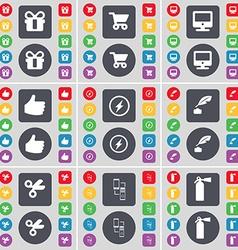 Gift Shopping cart Monitor Like Flash Ink pot vector image vector image