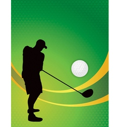 Golf tournament silhouette background vector