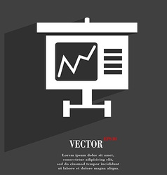 Graph icon symbol Flat modern web design with long vector image