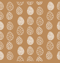 happy easter pattern with eggs vector image vector image