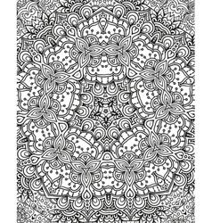 Kaleidoscope theme seamless abstract black vector