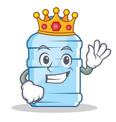 King gallon character cartoon style vector