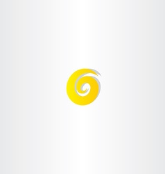number six 6 yellow logo vector image