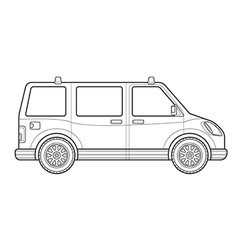 Outline van car body style icon vector