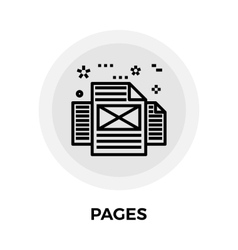 Pages Line Icon vector image vector image