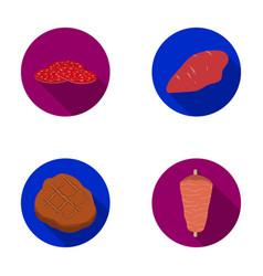 pieces of salami turkey fillet grilled steak vector image