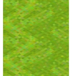 Pixelated green grass in isometric view seamless vector