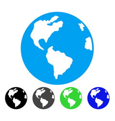 Planet earth flat icon vector