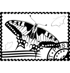 Postage stamp from Swallowtail vector image