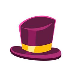 purple gentleman hat vector image