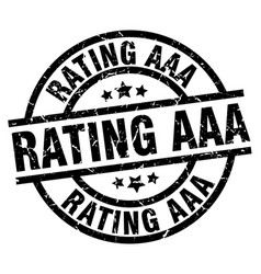 Rating aaa round grunge black stamp vector
