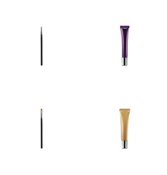 Realistic cosmetic stick collagen tube brow vector