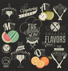 Retro vintage style restaurant menu designs vector image vector image
