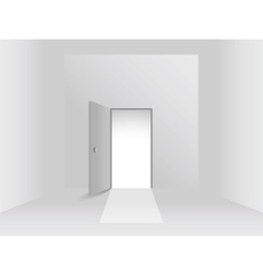 Room with door vector image vector image