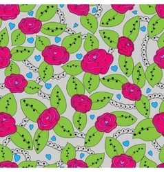 Roses colorful pattern vector image vector image