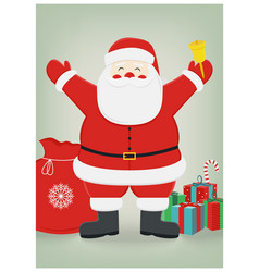 santa claus with gifts on isolated background vector image vector image