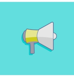 simple with a megaphone loudspeaker icon flat vector image
