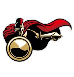 Spartan army mascot vector
