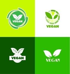 Vegan logo icon badge vector