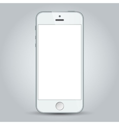 White mobile apple iphone 5s and iphone 6 plus vector