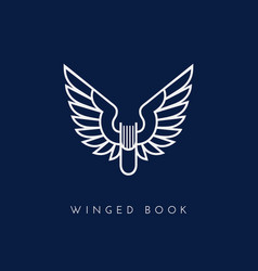 Winged book vector