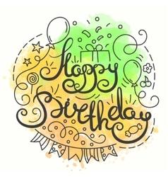 Happy Birthday Typography Design Letering card vector image