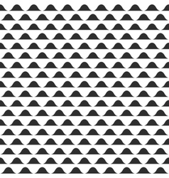 Wavy pattern  abstract black and white vector