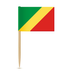 Republic of the congo flag flag toothpick on vector