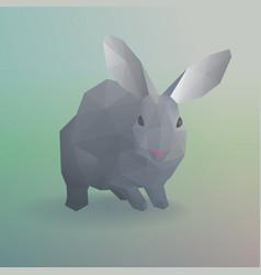 geometric gray rabbit or bunny concept vector image