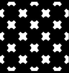 Seamless pattern white crosses on black backdrop vector