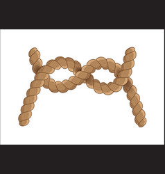 Nautical rope knot vector