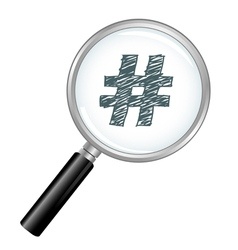 Magnified hash tag vector