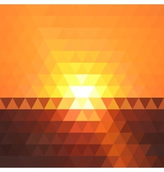Abstract sunset geometric triangle background vector image
