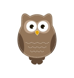 Cartoon owlet vector