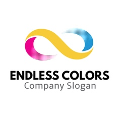 Endless colors design vector