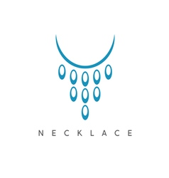 Abstract icon design template of necklace vector