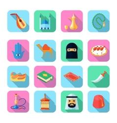 Arabic Culture Icon Flat vector image