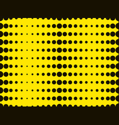 Black dots on a yellow background pop art vector