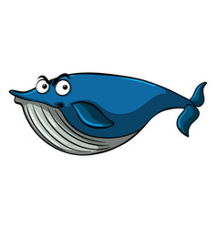 Blue whale with serious face vector