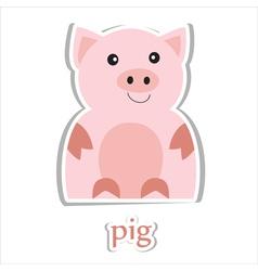 Cartoon pig vector image