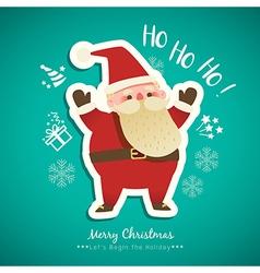 Christmas Santa Claus cartoon vector image