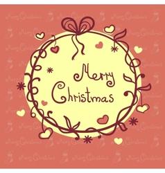 Christmas vignette vector image