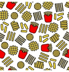 Fries icons seamless pattern vector