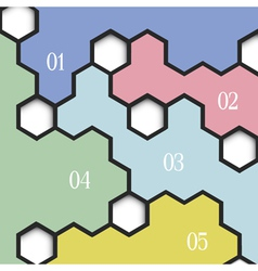 Geometric background with hexagons for vector image vector image