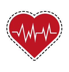 Heart cardiogram health icon image vector