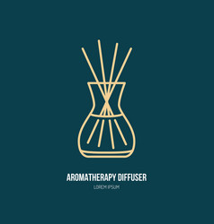 line icon of aromatherapy diffuser simple vector image