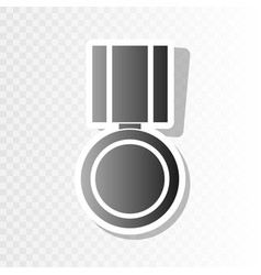 Medal sign new year blackish vector